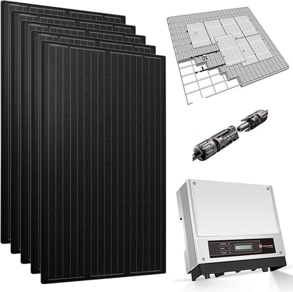 HT Solar - Pakket - 8 Zonnepanelen 310 WP Full Black met GoodWe omvormer